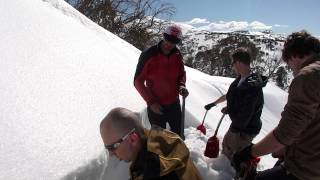 Avalanche Safety training (ATS Level 1): Pit digginig exersise