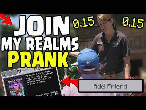 JOIN MY 0.15.0 REALMS SERVER ** PUBLIC PRANK! - Minecraft PE (Pocket Edition) Realms 0.15.0 PRANK!