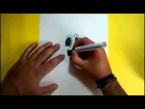 Como dibujar un fantasma paso a paso 10 How to draw a ghost 10
