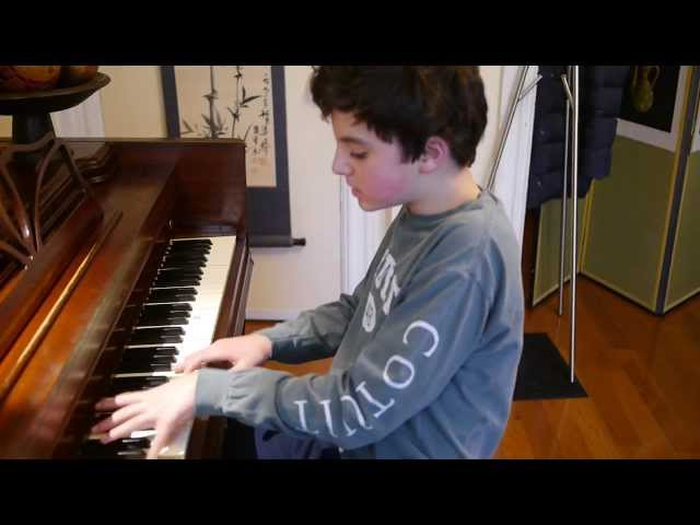 Leo (13) plays All of Me and Ac-cent-tchu-ate The Positive