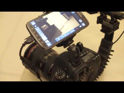 Canon 6D with Samsung Galaxy S4 as Video Monitor Screen Using DSLR Controller