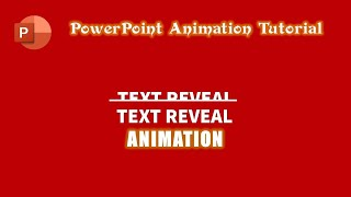 Text Reveal Animation Effect in PowerPoint 2016 | The Teacher