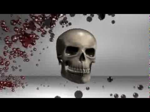 skull blood  3d model  animation  s01r01 thumbnail