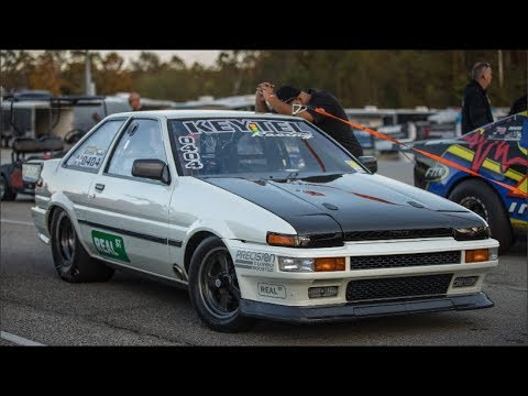 AE86 Corolla 6.9@207 And Subaru In The 7's!! Keytel Racing - Real Street