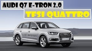Audi Q7 e-tron 2.0 TFSI Quattro, revealed today ahead of next weeks Auto Shanghai 2015 event