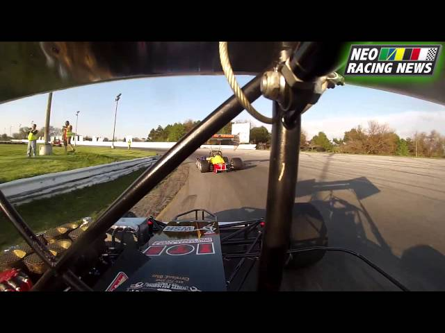 NEO Racing News - MSA Supermodified Heat @ Sandusky (Paller) - 5/10/14