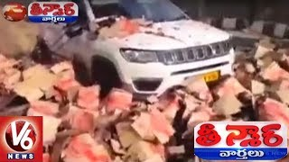 CCTV Visuals | Beer Truck Rams Into Toll Plaza In Rajasthan | Teenmaar News