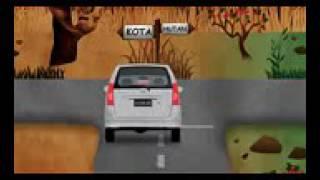 Pocong ngejar mobil