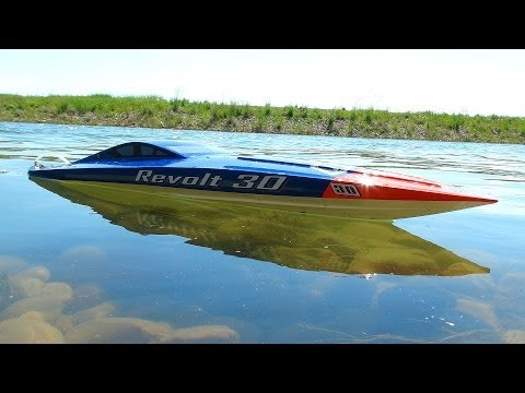 Rc Adventures   Aquacraft Revolt 30 Brushless Fe Mono Boat   Radio Controlled
