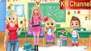 BÚP BÊ KN Channel ĐI HỌC P2 BACK TO SCHOOL | BÀI TẬP HÓC BÚA