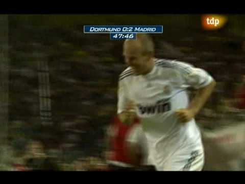 Arjen Robben excellent goal, Borussia Dortmund - Real Madrid  0-5 19/08/09 friendly match HQ