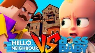 Minecraft - BOSS BABY VS HELLO NEIGHBOUR WAR!