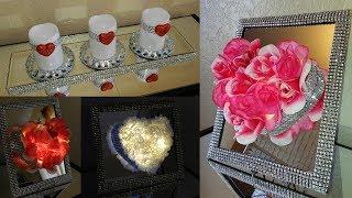 Dollar Tree DIY Glam Valentines Day Home Decor|| DIY Glam Home Decor Ideas using Dollar Tree Items