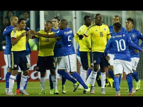 Pelea de Neymar y Carlos Bacca (Expulsión) - Colombia vs Brasil 1-0 Copa America 2015 HD