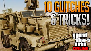 GTA 5 Online - 10 Glitches & Tricks Online! (Flying, Invincible, Car Destruction Glitch & More)