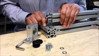 Montage und Verwendung von Kugellagern und Wellenhalter als Drehgelenk