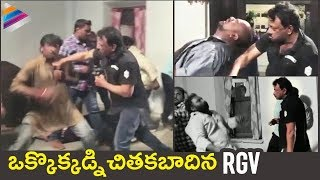 RGV Fighting Video | Ram Gopal Varma Stunts Making Video | #NAGRGV4 | #RGV | Telugu FilmNagar