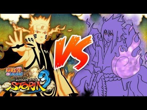 NARUTO SHIPPUDEN: Ultimate Ninja STORM 3 | KCM Naruto VS EMS Sasuke