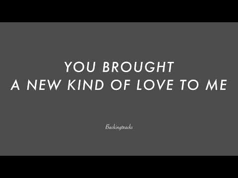 YOU BROUGHT A NEW KIND OF LOVE TO ME - Jazz Guitar Backing Track Play Along The Real Book