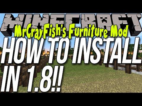How To Install MrCrayFish's Furniture Mod In Minecraft 1.8