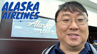 The Alaska Airlines Lounge in Portland International Airport PDX