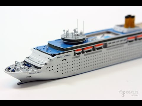 COSTA CLASSICA - Painting of a 1250 scale model - Optatus Berlin