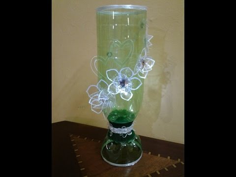 Best out of waste plastic bottles transformed to very for Best out of plastic