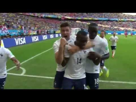 FIFA World Cup 2014 - Switzerland 2-5 France [All goals]
