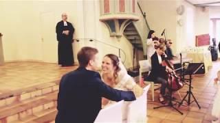 Flashlight Flashmob an Bastians-und Maxis Hochzeit