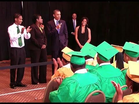 President Obama Surprises Booker T. Washington Graduates