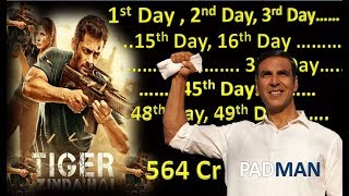 Tiger Zinda Hai Full Day Wise Box Office Collection And Padman Movie 2018