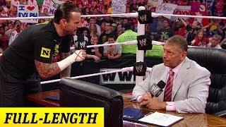 CM Punk negotiates his contract with Mr. McMahon