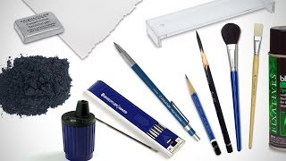 Drawing Supplies I Use for Longer Drawings