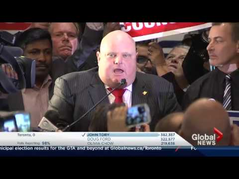 Toronto Election: Rob Ford steals spotlight vowing comeback