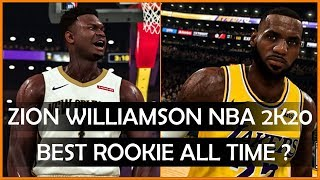 ZION WILLIAMSON vs NBA SUPERSTARS RATINGS IN ROOKIE YEAR IN NBA 2K