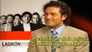 Fernando Colunga presentando  la pelicula Ladrón que roba a ladrón