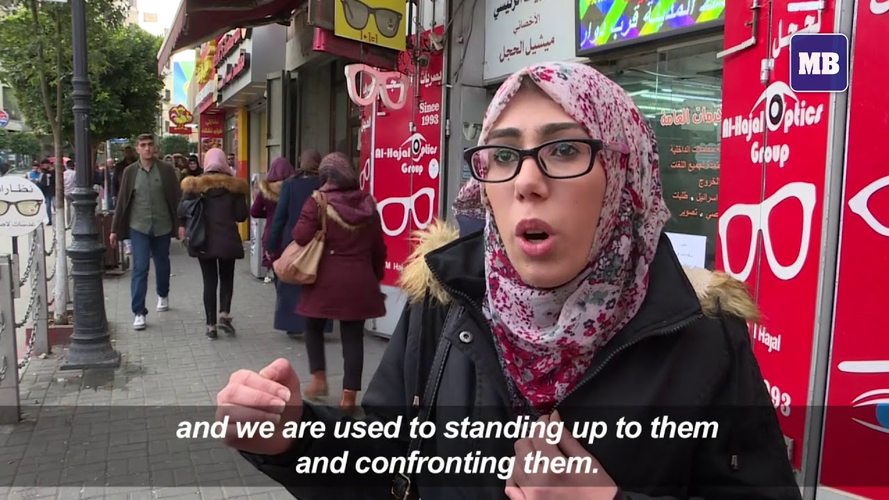 "Palestinians in Ramallah react to threats by ""biased"" Trump"