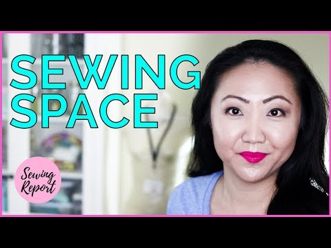 Sewing Room Late Night Tour + YouTube Filming Setup | SEWING REPORT