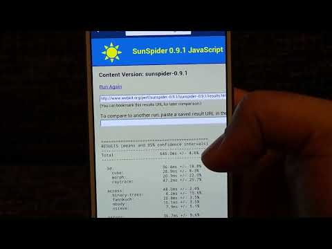 Samsung Galaxy S4 Octa Core - Sunspider Javascript Test - Android Browser