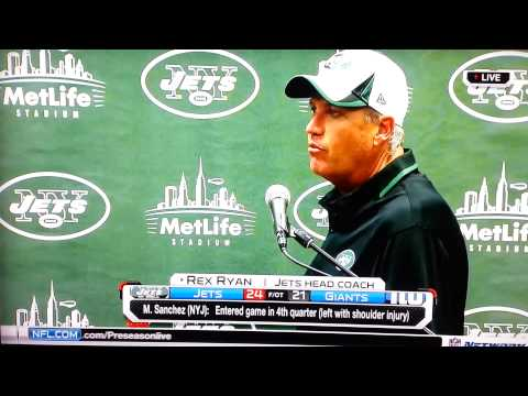 Rex Ryan melts down during press conference