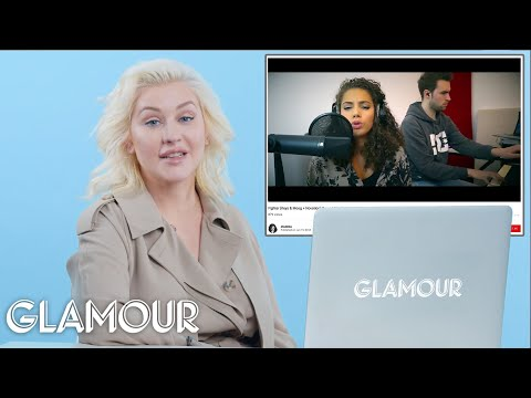 Christina Aguilera Watches Fan Covers On YouTube   Glamour