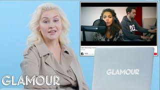 Download Lagu Christina Aguilera Watches Fan Covers On YouTube | Glamour Gratis STAFABAND