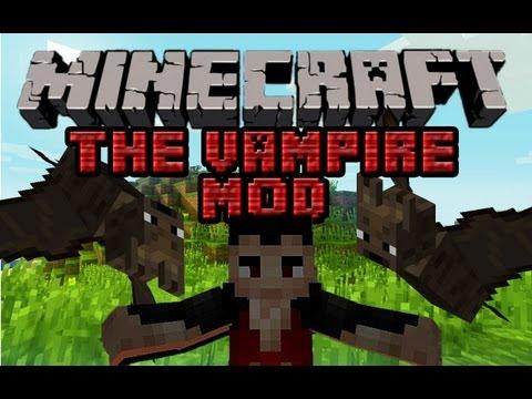 Minecraft Mody - Vampire Mod 1.4.7 - Wampir i jego Łowca. Bronie. Krew i Przedmioty