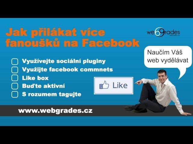 Jak získat fanoušky na facebooku