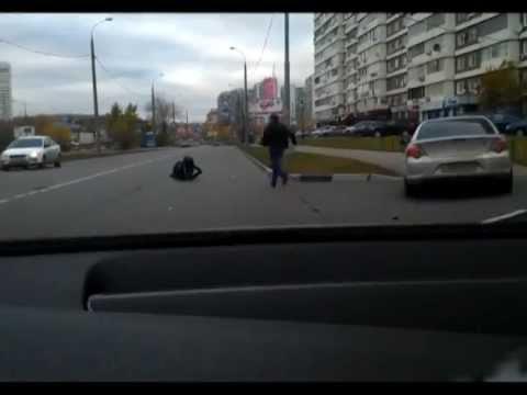 ДТП с участием мотоциклиста. Москва