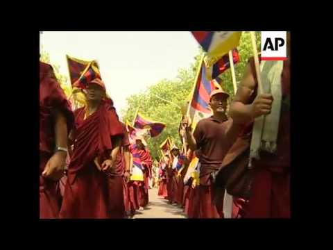 WRAP Pro-Tibet demo at Olympic torch site, effigies burned, Pakistan FM