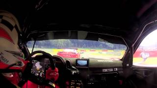 Onboard Camera - Spa race 1 -  Ferrari 458 GT3  Marco Frezza
