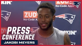 """Jakobi Meyers: """"As long as I'm paying attention, I feel like I'll get to where I need to be"""""""