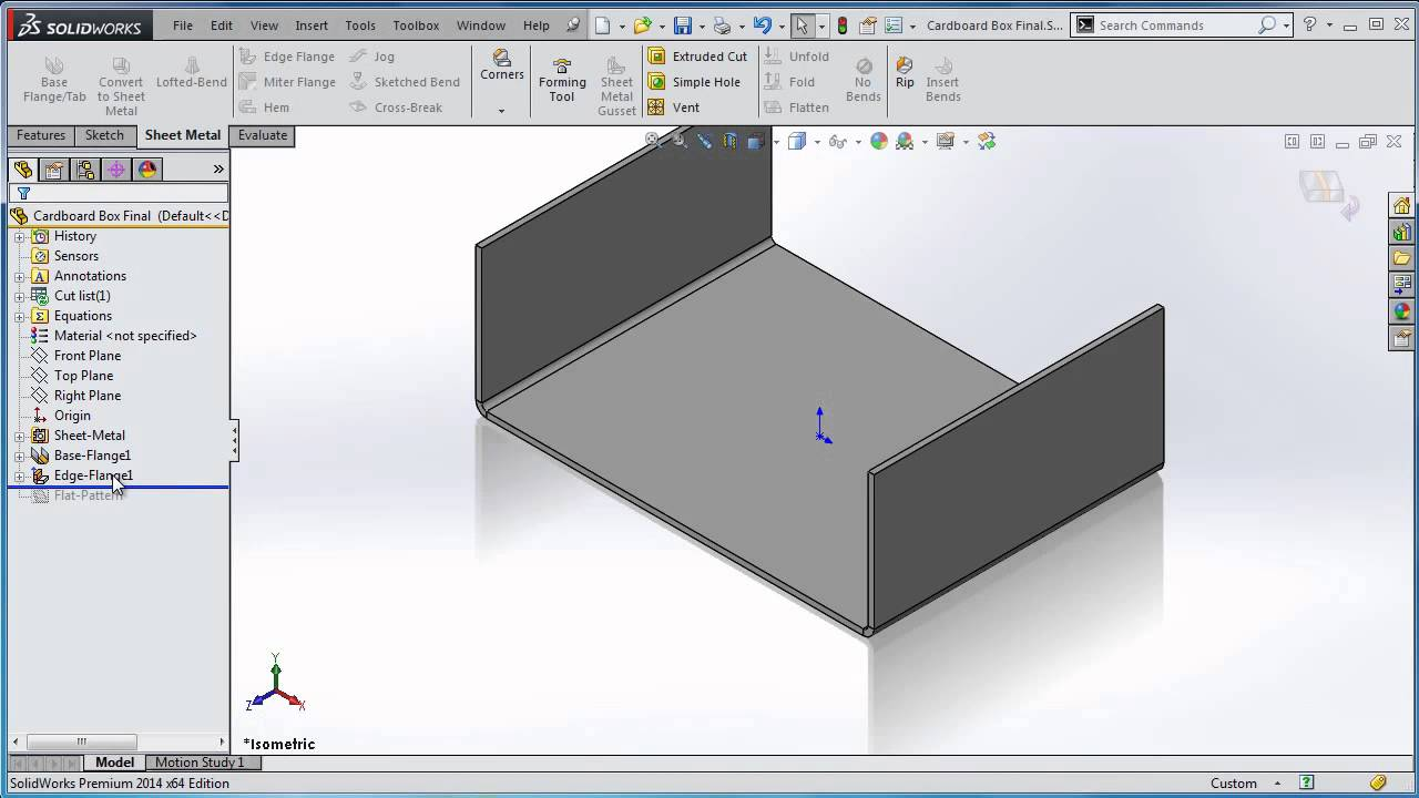 Solidworks Tnt Design Cardboard Boxes With Sheet Metal