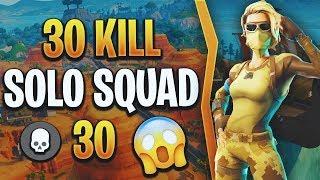 Solo Squads 30 Kill Game | World Record Attempt